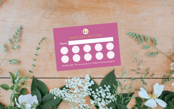 flexible Kundenkarte Im Einklang